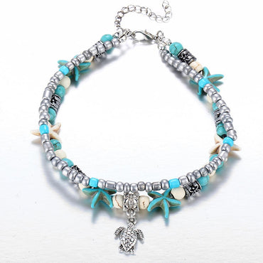 Bohemian Style Fashionable Double Layers Anklet  Bracelet