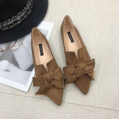 Casual Pointed Toe Slip On Flat Shoes