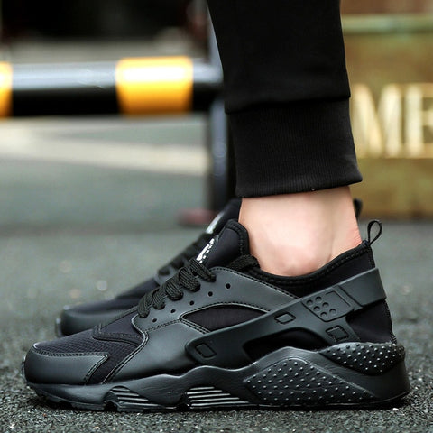 Breathable Running Shoes for Man Black White Sport Shoes Men Sneakers