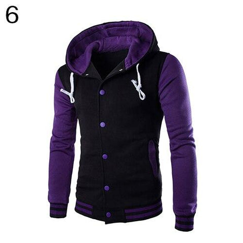 Casual Classic Striped Hooded Baseball Jacket Hoodies