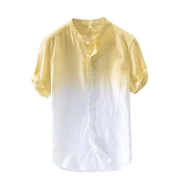 Brand New Summer Men's Cool And Thin Breathable Collar Hanging Dyed Gradient Cotton Shirt