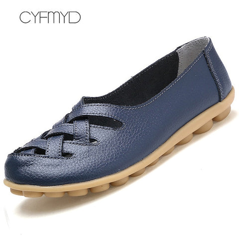 Genuine leather Superstar Big size 41-44 Oxford Flat Shoes