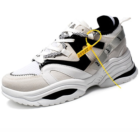 Men Shoes Thick Sole Brand Superstar Men Running Shoes Black Sneakers Outdoor  Walking Shoes