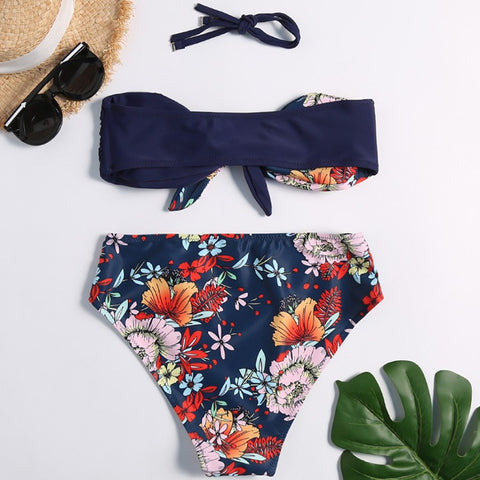 New Fashion Flower Print Swimwear