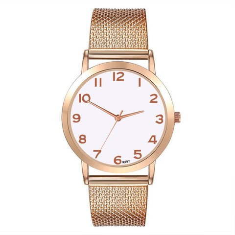 New Fashion Ladies Watch Round Digital Dial Fashion Watch