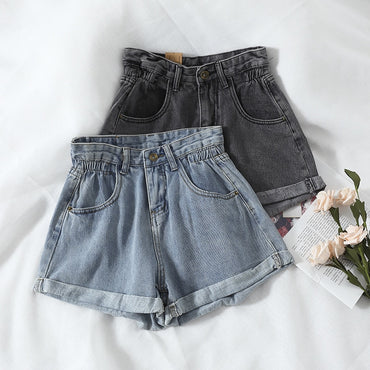 High Waist Hot Shorts Wide Leg Bottoms Schoolgirl Cowboy Tight Denim shorts