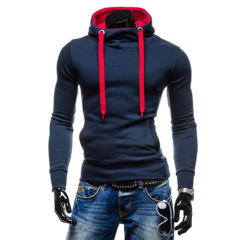 New Hoodies  Fashion Brand Pullover Solid Color Turtleneck Sportswear Sweatshirt