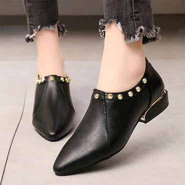 Rivets Dress Shoes Low Heels Flat shoes