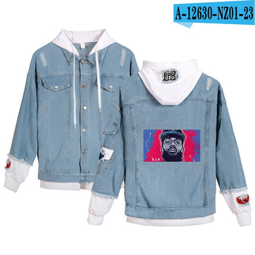Nipsey Hussle Denim Jean Stitching Jacket Coat