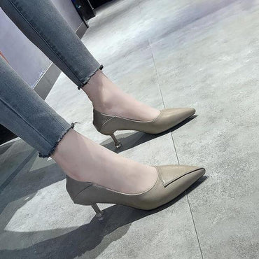 r Fashion Casual Pointed Toe Stilettos Shallow High Heels