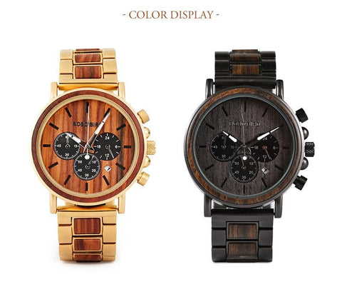 Wooden Men Watch Relogio Masculino Top Brand Luxury Chronograph  Watches