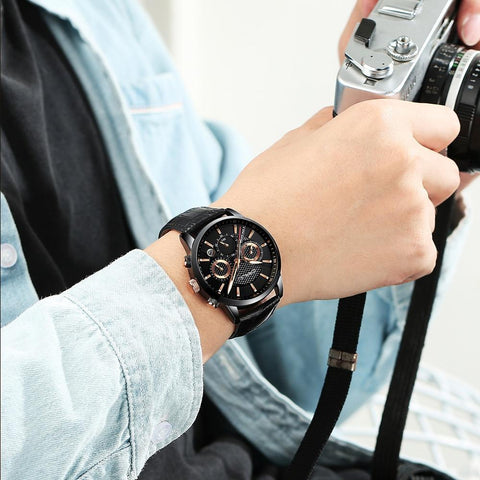 New Fashion Men Watches Analog Quartz Wristwatches
