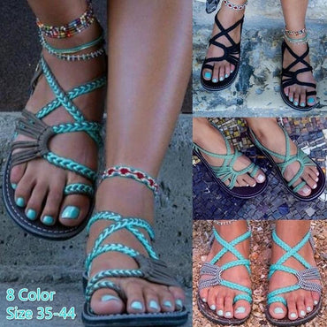 Sandals Rope Bohemia Beach Flip Flops Casual Flats