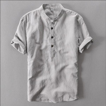 summer linen casual men's short sleeved Fashion Shirts