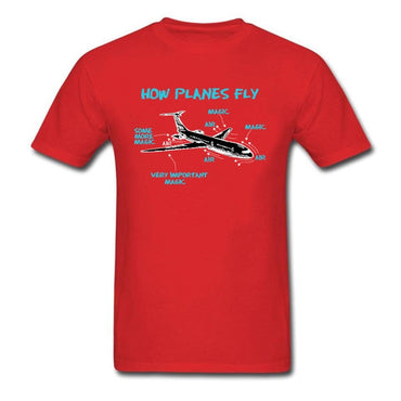 Print Engineer Mechanical How Plane Fly  T Shirts