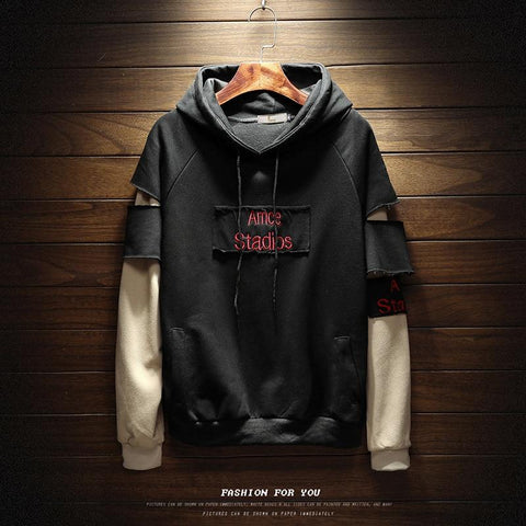 Hole Letter Printed Loose Simple All-match Hoodies