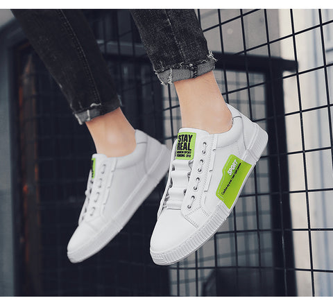 Fashion Casual Men Footwear Split Leather Mens Style Shoes Sneakers