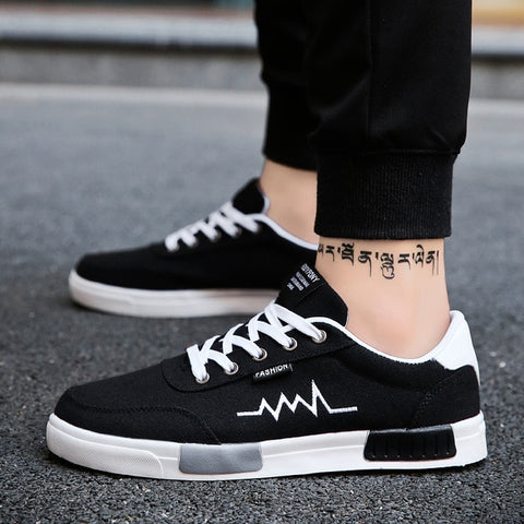 New Spring Summer Canvas Shoes Men Sneakers Low top Black Shoes Men Casual Shoes