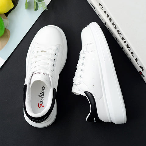 New Designer Wedges White Shoes Female Platform Sneakers Men Casual Female Shoes