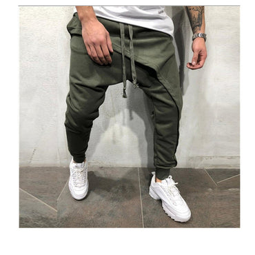 Asymetric Layered Jogger Hip Hop Streetwear Jogger Pants