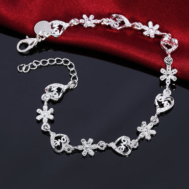Silver exquisite Charms snowflake Bracelets & Bangels