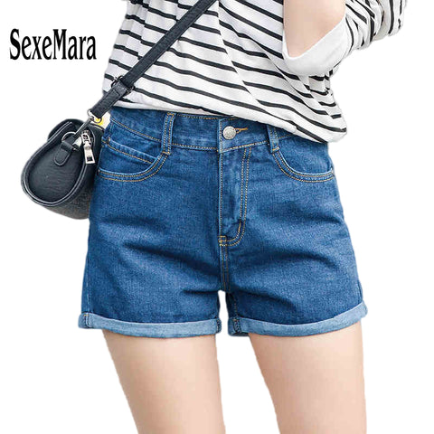 loose cuffs seven jeans denim shorts
