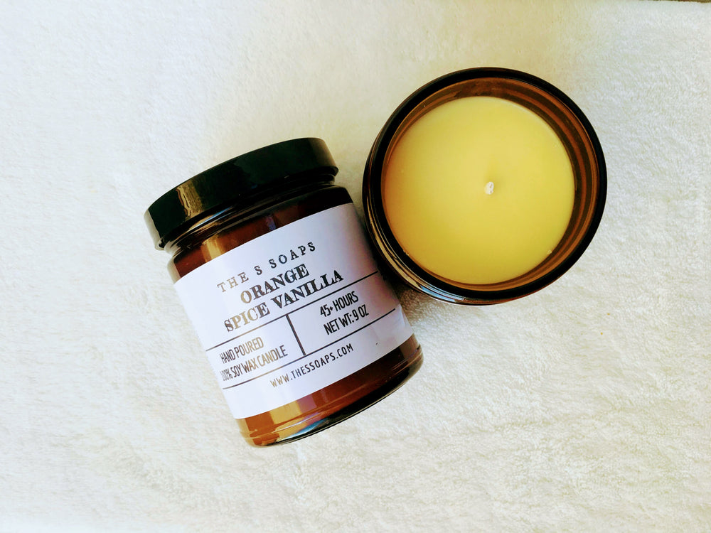 Orange Vanilla Spice Soy Wax Candle