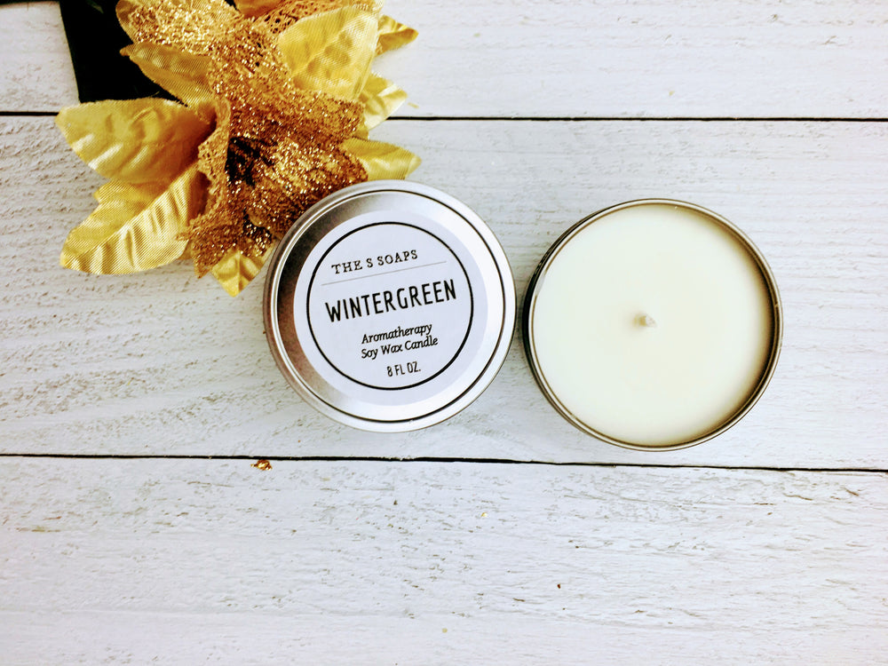 Load image into Gallery viewer, Wintergreen Aromatherapy Candle