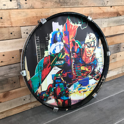 EINZELSTÜCK: SUPERMANN (Drum Candy ART by Stefanie Pappe-Stellbrink)