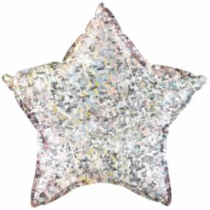 HOLOGRAPHIC STAR SILVER 20