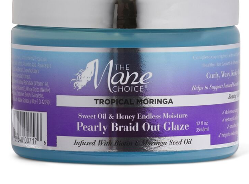 Tropical Moringa Sweet Oil and Honey Endless Moisture Pearly Braid Out Glaze Moisturizer - BEAUTYBEEZ-beauty-supply