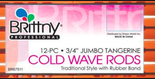 3/4 in Jumbo Tangerine Cold Wave Rods with Rubber Band - BEAUTYBEEZ