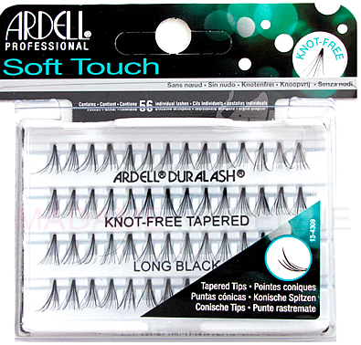 Soft Touch Individual Lashes in Long Black 56 - BEAUTYBEEZ