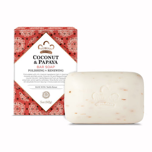 Nubian Heritage Coconut and Papaya Bar Soap Soap - BEAUTYBEEZ-beauty-supply