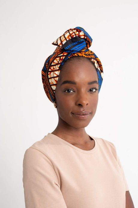 Niana Print Wire Turban Headwear - BEAUTYBEEZ-beauty-supply
