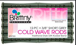 3/8 Short Grey Cold Wave Rods - BEAUTYBEEZ