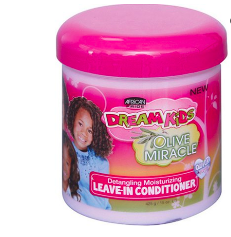 African Pride Dream Kids Olive Miracle Leave-In Conditioner, 15 oz Leave-In Conditioner - BEAUTYBEEZ-beauty-supply