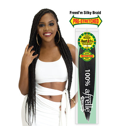 Freed'm Silky Braid Pre-Stretched Braiding Hair - BEAUTYBEEZ-beauty-supply