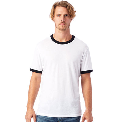50/50 Vintage Jersey Ringer T-shirt: Alternative Apparel
