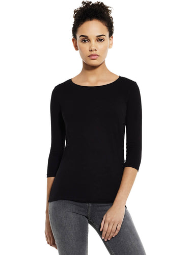 Organic Cotton 3/4 Sleeve Stretch T-shirt Womens: Earth Positive