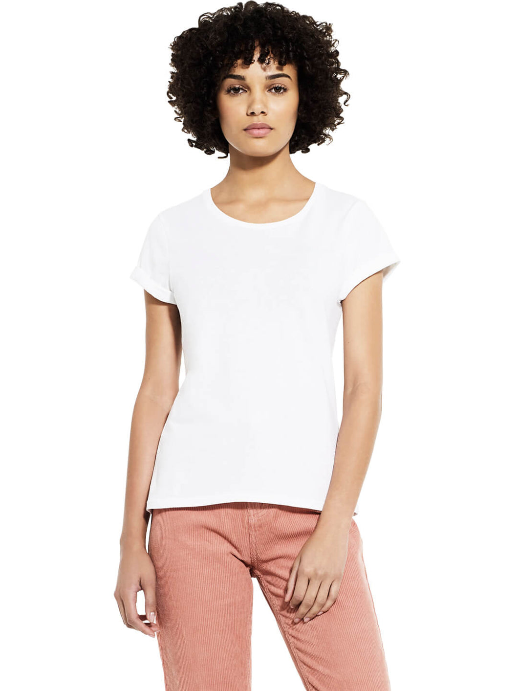 Organic Cotton Rolled Sleeve T-shirt: Womens Earth Positive
