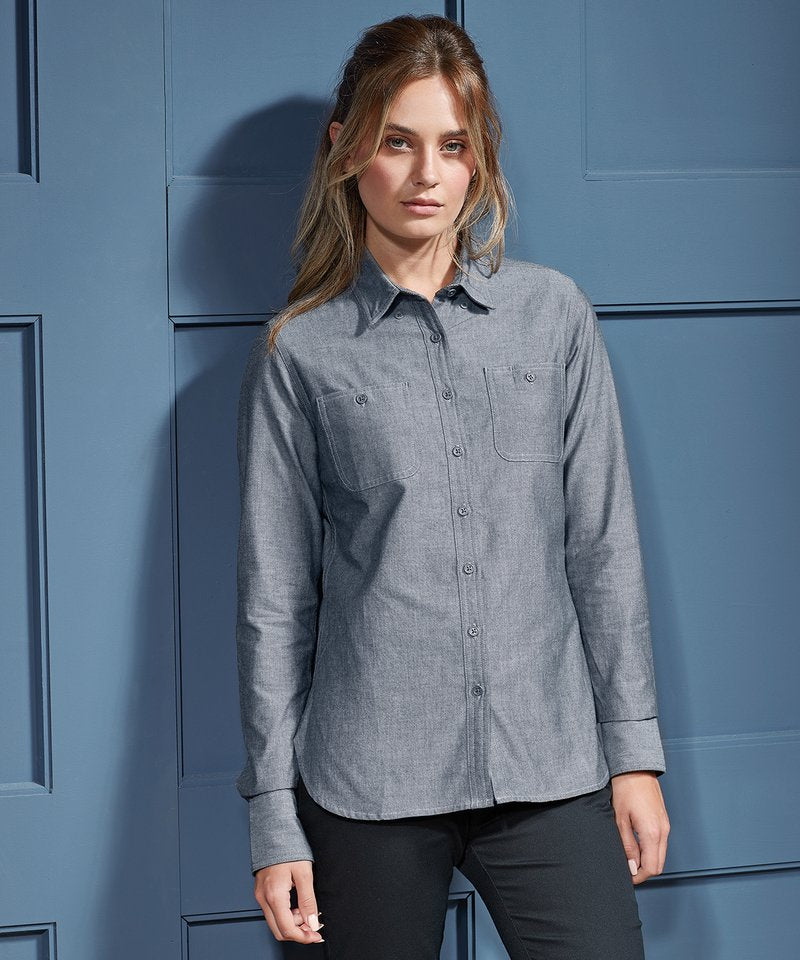 Women's Chambray Shirt, Organic And Fairtrade Certified