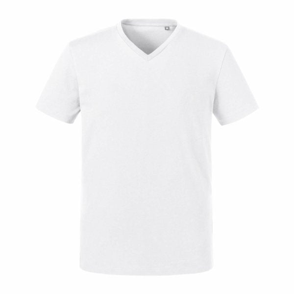 Russell Mens Pure Organic V-neck Tee