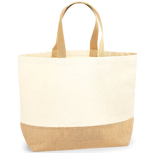 Open image in slideshow, Jute Base Canvas Tote Xl