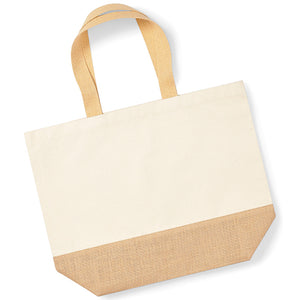 Jute Base Canvas Tote Xl