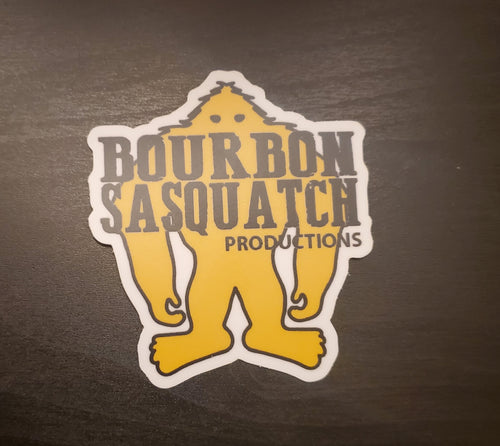 Bourbon Sasquatch Productions Sticker