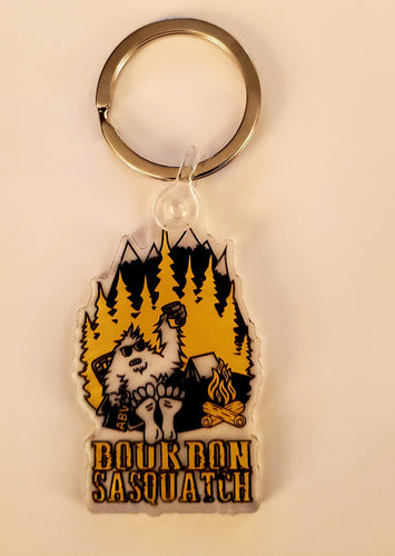Bourbon Sasquatch Key Ring
