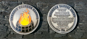 ABVNetwork Series 3 Challenge Coin - Charred Bourbon Barrel