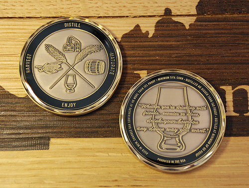 ABVNetwork Series 1 Challenge Coin - Harvest - Distill - Maturate - Enjoy