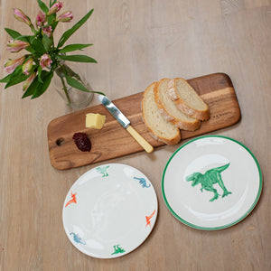 Perfect kids breakfast: Fine Bone China dinosaur plates, mix and match with different dinosaurs, T-Rex, Diplodocus and pterodactyl. A boys dream dinner set!